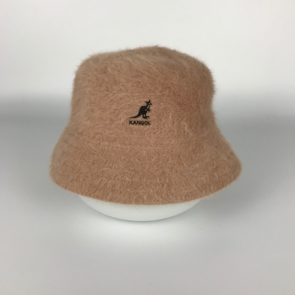 Kangol Accessories - KANGOL TAN Beige Rabbit Angora Fur Bucket Hat SZ M bfdc8901f1a